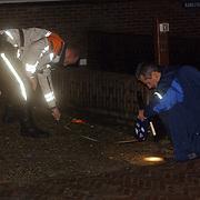 Onderzoek technische recherche na een steekpartij Paardeplein Hilversum, technisch rechereur Marco Dorresteijn