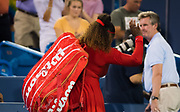 Serena Williams of the United States leaves the court after losing her second-round match at the 2018 Western and Southern Open WTA Premier 5 tennis tournament, Cincinnati, Ohio, USA, on August 14th 2018 - Photo Rob Prange / SpainProSportsImages / DPPI / ProSportsImages / DPPI