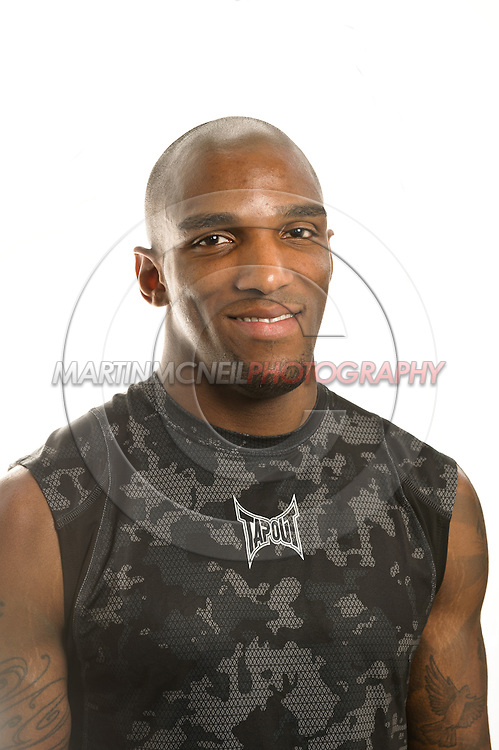 A portrait of middleweight mixed martial arts athlete Francis Carmont