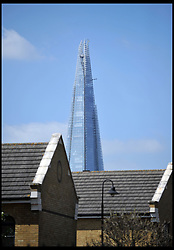 The Shard Skyscraper in the City district of London, UK. on April 23, 2013. The Office for National Statistics said its preliminary estimates for gross domestic product (GDP), showed the economy grew by 0.3% in the first three months of the year. The figure means the economy avoided two consecutive quarters of contraction - the definition of a recession, April 25, 2013. Photo by: Andrew Parsons / i-Images