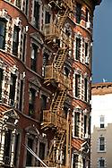 New York. Lower east side architecture  New york - United states  Manhattan /  Lower east side architecture  New york - Etats unis