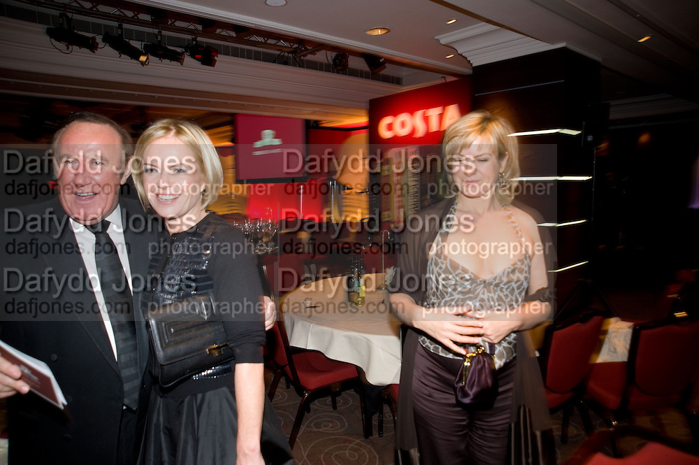 Andrew Neil; Mariela Frostrup; Penny Smith, The Costa Book of the Year Award at the Costa Book Awards. The Intercontinental Hotel, Hamilton Place. London. 27 January 2009 *** Local Caption *** -DO NOT ARCHIVE -Copyright Photograph by Dafydd Jones. 248 Clapham Rd. London SW9 0PZ. Tel 0207 820 0771. www.dafjones.com<br /> Andrew Neil; Mariela Frostrup; Penny Smith, The Costa Book of the Year Award at the Costa Book Awards. The Intercontinental Hotel, Hamilton Place. London. 27 January 2009
