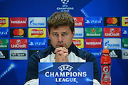 Mauricio Pochettino pensive during Tottenham Hotspur pre match Press Conference  at Tottenham Training Centre, Enfield, United Kingdom on 13 September 2016. Photo by Jon Bromley.