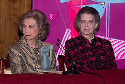 National Auditorium of Music. Madrid. Spain. In the picture: Queen Sofia of Spain and Princess Irene of Greece, November 6, 2012. Photo by Ivan G. Naughty / DyD Fotografos / i-Images...SPAIN OUT