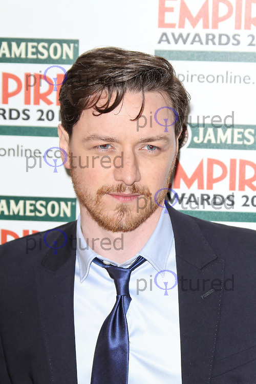 LONDON - MARCH 25: James McAvoy attends the Jameson Empire Awards 2012 at the Grosvenor House Hotel, London, UK. March 25, 2012. (Photo by Richard Goldschmidt)