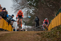 BRAND Lucinda (NED) and VOS Marianne (NED) during Women Elite race, 2019 UCI Cyclo-cross World Cup Heusden-Zolder, Belgium, 26 December 2019.  <br /> <br /> Photo by Pim Nijland / PelotonPhotos.com <br /> <br /> All photos usage must carry mandatory copyright credit (Peloton Photos | Pim Nijland)