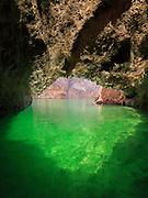Emerald Cave on the Colorado River, portrait orientation