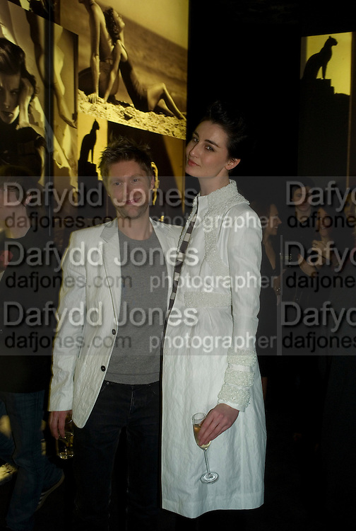 CHRISTOPHER BAILEY AND ERIN O'CONNOR, Vanity Fair Portraits: Photographs 1913-2008. Hosted by Burberry and Vanity Fair. National Portrait Gallery. London. 9 February 2008.  *** Local Caption *** -DO NOT ARCHIVE-© Copyright Photograph by Dafydd Jones. 248 Clapham Rd. London SW9 0PZ. Tel 0207 820 0771. www.dafjones.com.
