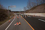 Nuclear Exclusion zone.   Earth Quake Damage in  Fukushima near the  Damaged Fukushima Diachi Reactors.  While the  rest of Japan  Repairs the  Damges caused by the  March 11th  EarthQuake Areas in the  Nuclear exclusion Zone Have gone un  Repaired becaus of the  Fear of Nuclear contamination..