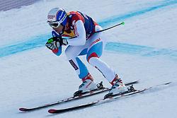 KITZBUHEL AUSTRIA. 22-01-2011. Carlo Janka (SUI) speeds down the course competing in the 71st Hahnenkamm downhill race part of  Audi FIS World Cup races in Kitzbuhel Austria.  Mandatory credit: Mitchell Gunn
