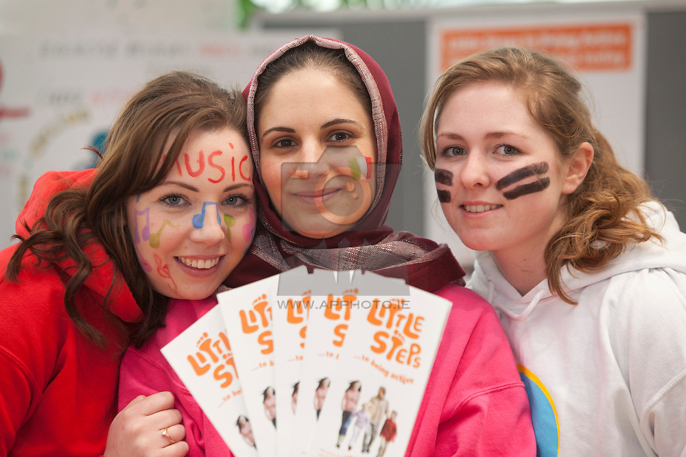 "Lesley Nugent from Malahide, Ahdieh Khosravizad and Ailish Brady from Dun Laoghaire are pictured at their stand at the ""Promoting health in the early years"" expo at the ITB Humanities Week 2012, a three day annual event has captured the imagination of both staff and students at ITB and is a marvelous opportunity to showcase their work in imaginative and creative ways. Pic Andres Poveda"