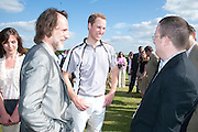 PAUL GREEN; HRH PRINCE WILLIAM;, The Dalwhinnie Crook  charity Polo match  at Longdole  Polo Club, Birdlip  hosted by the Halcyon Gallery. . 12 June 2010. -DO NOT ARCHIVE-© Copyright Photograph by Dafydd Jones. 248 Clapham Rd. London SW9 0PZ. Tel 0207 820 0771. www.dafjones.com.