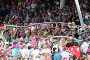 Beer Snake during the NatWest T20 Blast Semi Final match between Hampshire County Cricket Club and Lancashire County Cricket Club at Edgbaston, Birmingham, United Kingdom on 29 August 2015. Photo by David Vokes.