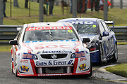 Jason Richards in the BOC Racing Commodore  leads Shane van Gisbergen during the Norton 360 Sandown Challenge held at the Sandown International Motor Raceway, Victoria on Sunday 2nd August. 2009 V8 Supercar Series Rounds 13 and 14. Photo © Clay Cross/PHOTOSPORT