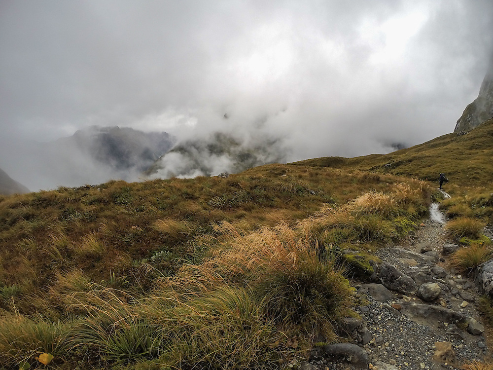 After a coffee and muesili bar we headed off over the Milford side of the Pass and were speechless as the cloud began to break up...