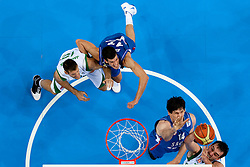 Goran Jagodnik of Slovenia and Mirza Begic of Slovenia (R) vs Marko Keselj of Serbia and Boban Marjanovic of Serbia during basketball game between National basketball teams of Slovenia and Serbia in 7th place game of FIBA Europe Eurobasket Lithuania 2011, on September 17, 2011, in Arena Zalgirio, Kaunas, Lithuania. Slovenia defeated Serbia 72 - 68 and placed 7th. (Photo by Vid Ponikvar / Sportida)