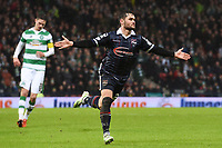 31/01/16 UTILITA ENERGY SCOTTISH LEAGUE CUP SEMI-FINAL<br /> ROSS COUNTY v CELTIC <br /> HAMPDEN - GLASGOW <br /> Ross County's Alex Schalk celebrates after making it 3-1