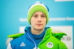 Domen Prevc during presentation of Slovenian Young Athletes before departure to EYOF (European Youth Olympic Festival) in Vorarlberg and Liechtenstein, on January 21, 2015 in Bled, Slovenia. Photo by Vid Ponikvar / Sportida