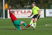 Brighton's Jay Blackie during the FA Women's Premier League match between Coventry United Ladies and Brighton Ladies at Bedford United FC, Bedford, United Kingdom on 21 February 2016. Photo by Shane Healey.
