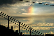 Sundogs come out at a Clovis High baseball game.
