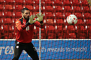 Barnsley goalkeeper Nick Townsend (13)  during the Sky Bet League 1 match between Barnsley and Coventry City at Oakwell, Barnsley, England on 1 March 2016. Photo by Simon Davies.