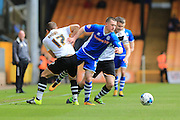 Donal McDermott, Michael Brown during the Sky Bet League 1 match between Port Vale and Rochdale at Vale Park, Burslem, England on 23 April 2016. Photo by Daniel Youngs.