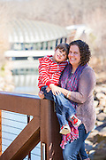 Jennifer and Dayton Mullen stand on a path outside Crystal Bridges Museum of American Art on Friday, January 16, 2015, in Bentonville, Ark. Photo by Beth Hall