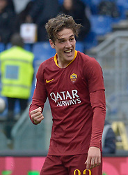 January 19, 2019 - Rome, Italy - Nicolò Zaniolo celebrates after scoring goal 1-0 during the Italian Serie A football match between A.S. Roma and F.C. Torino at the Olympic Stadium in Rome, on january 19, 2019. (Credit Image: © Silvia Lore/NurPhoto via ZUMA Press)
