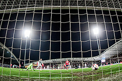 Goal of Milivoje Novakovic during the FIFA World Cup 2014 Group E qualification match between Slovenia and Norway on October 11, 2013 in Stadium Ljudski vrt, Maribor, Slovenia. (Photo by Urban Urbanc / Sportida)