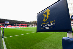 Champions league branding at the Liberty Stadium, home of Ospreys - Mandatory by-line: Craig Thomas/JMP - 15/10/2017 - RUGBY - Liberty Stadium - Swansea, Wales - Ospreys Rugby v Clermont Auvergne - European Rugby Champions Cup