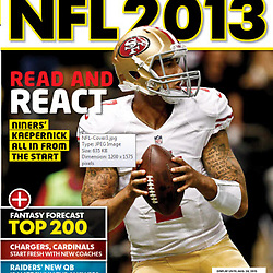 USA TODAY SPORTS - Cover - NFL 2013 Preview - Colin Kaepernick - 49ers