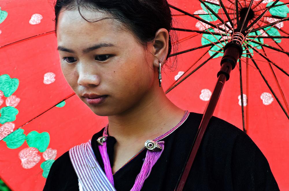 A Lanten girl in Luang Namtha, Laos.