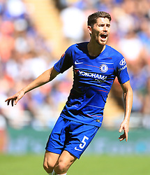 "Chelsea's Jorginho during the Community Shield match at Wembley Stadium, London. PRESS ASSOCIATION Photo. Picture date: Sunday August 5, 2018. See PA story SOCCER Community Shield. Photo credit should read: Adam Davy/PA Wire. RESTRICTIONS: EDITORIAL USE ONLY No use with unauthorised audio, video, data, fixture lists, club/league logos or ""live"" services. Online in-match use limited to 75 images, no video emulation. No use in betting, games or single club/league/player publications."