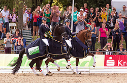 Brouwer Kirsten (NED) - Dancer Forever<br /> Maree Gerdine (NED) - Dream Boy<br /> FEI World Dressage Championships for Young Horses<br /> Internationales Dressur- und Springfestival - Verden 2014<br /> © Dirk Caremans