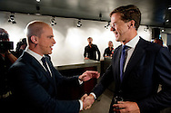 Het 'premiersdebat' van RTL4 in De Rode Hoed in Amsterdam tussen lijsttrekkers Mark Rutte (VVD), Diederik Samsom (PvdA), Geert Wilders (PVV) en Emile Roemer (SP)