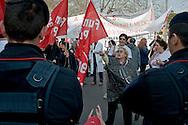 Roma 10 Marzo 2013<br /> Manifestazione dei lavoratori dell'Ospedale, S.Giovanni Calibita-Fatebenefratelli all'Isola Tiberina,  di fronte ministero della Salute sul lungotevere,  per contestare il rischio di licenziamenti connesso al dissesto economico dell'azienda sanitaria.<br /> Rome March 10, 2013<br /> Workers' demonstration of the Hospital, St. John Calibita-Fatebenefratelli to Isola Tiberina, in front of the Ministry of Health, to protest  the risk of layoffs related to the economic collapse of the company health care.