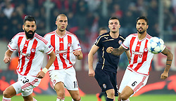 04.11.2015, Karaiskakis Stadium, Piraeus, GRE, UEFA CL, Olympiacos vs Dinamo Zagreb, Gruppe F, im Bild Armin Hodzic // during UEFA Champions League group F match between Olympiacos and Dinamo Zagreb at the Karaiskakis Stadium in Piraeus, Greece on 2015/11/04. EXPA Pictures © 2015, PhotoCredit: EXPA/ Pixsell/ Slavko Midzor<br /> <br /> *****ATTENTION - for AUT, SLO, SUI, SWE, ITA, FRA only*****