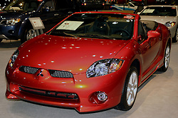 08 February 2007: 2007 Mitsubishi Eclipse Spyder GT convertible. The Chicago Auto Show is a charity event of the Chicago Automobile Trade Association (CATA) and is held annually at McCormick Place in Chicago Illinois.