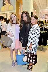Left to right, ROSIE FORTESCUE, BINKY FELSTEAD and LOUISE THOMPSON at a party to celebrate the launch of French Connection's #CANTHELPMYSELFIE -The UK's first in-store interactive selfie booths and windows held at French Connection, 249-251 Regent Street, London on 15th April 2014.