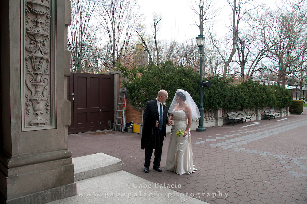 The wedding of Pam Frank and Howard Nelson at the Bronx Zoo on April 26, 2015. (photo by Gabe Palacio)