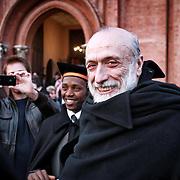 Carlo Petrini presidente di Slow Food e dell'Università degli Studi di Scienze Gastronomiche di Pollenzo.<br /> <br /> 10 marzo 2014 Graduation Day,<br /> Pollenzo celebra i nuovi dottori in Scienze Gastronomiche