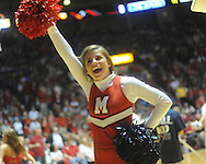 "Mississippi cheerleader vs. Memphis in NIT second round basketball action at the C.M. ""Tad"" Smith Coliseum in Oxford, Miss. on Friday, March 19, 2010. Ole Miss won 90-81."