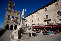 Piazza della Liberta in San Marino, on October 13, 2009, in San Marino,  San Marino.  (Photo by Vid Ponikvar / Sportida)