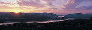 Hudson Highlands, Garrison, New York, Hudson River, Hudson River, panorama, Sunset