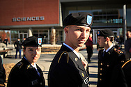 EKU ROTC Cadet Shane Riley assembles along with his fellow cadets during a Veterans Day ceremony at Eastern Kentucky University, Saturday, November 10, 2012. Photo by Chris Radcliffe