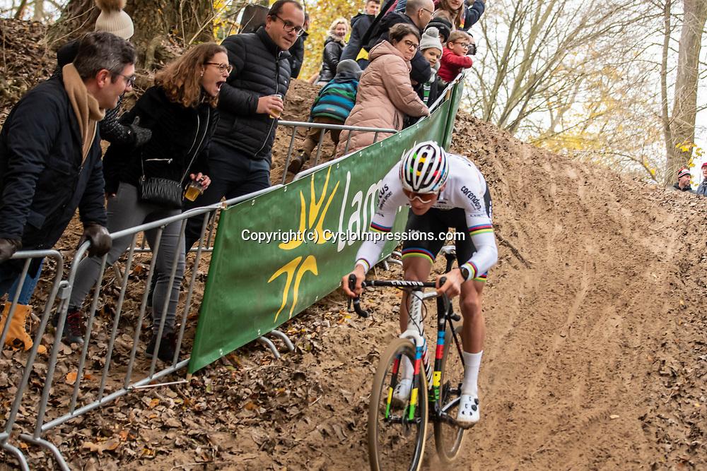 2018-11-24: Cycling: CX Worldcup: Koksijde: Fan whooping at Mathieu van der Poel