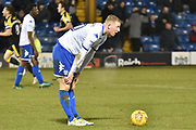 Bury Defender , Alex Whitmore (20) as Bury go down 0-3  during the EFL Sky Bet League 1 match between Bury and Rotherham United at the JD Stadium, Bury, England on 26 December 2017. Photo by Mark Pollitt.