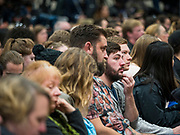 09 NOVEMBER 2019 - DES MOINES, IOWA: Sanders and Rep. Congresswoman Alexandria Ocasio-Cortez (D-NY), hosted a town hall on climate change at Drake University in Des Moines. More than 2,000 people attended the event. Sanders, an independent, is running to be the Democratic nominee for the 2020 US Presidential election. Iowa holds the first in the country selection contest with state caucuses on Feb. 3, 2020.               PHOTO BY JACK KURTZ