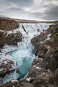 Kolugljufur canion is in Northwest Iceland.