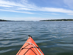 Kayak and Castine Harbor, Castine, Maine, US